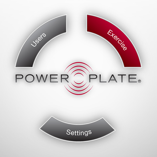 Powerplate Pro7 - Main menu